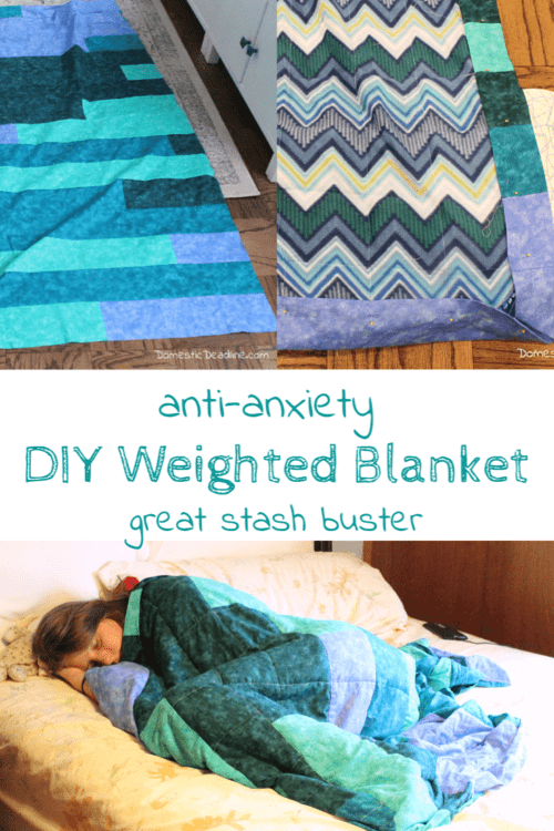 Diy Weighted Blanket Tutorial By Domestic Deadline Featured At The