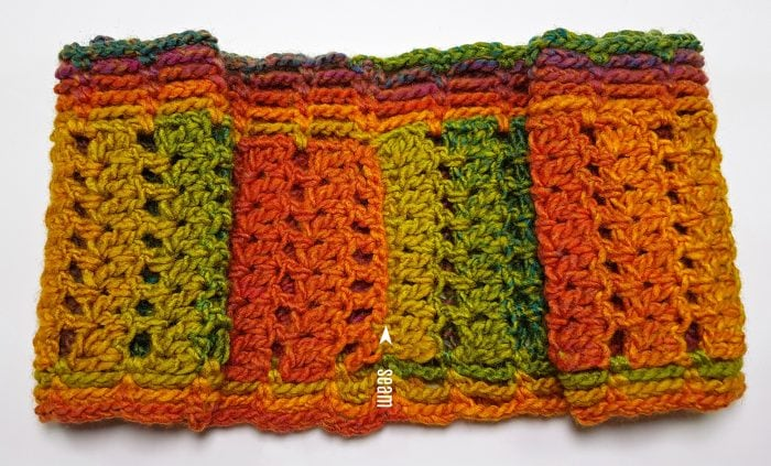 Fall Carnival Scarf Pattern by Oombawka Design Crochet seam