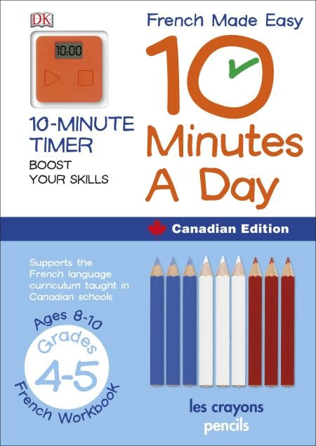 French Made Easy 10 Minutes a Day. DK Canada. Book Review by Oombawka Design