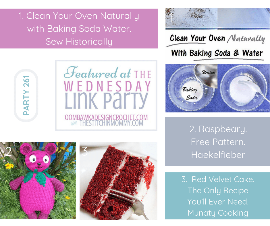 Party 261 Wednesday Link Party Featured Favorites with The Stichin Mommy and Oombawka Design Crochet