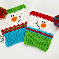 Sampler Snowman Boot Cuffs by Heidi Yates