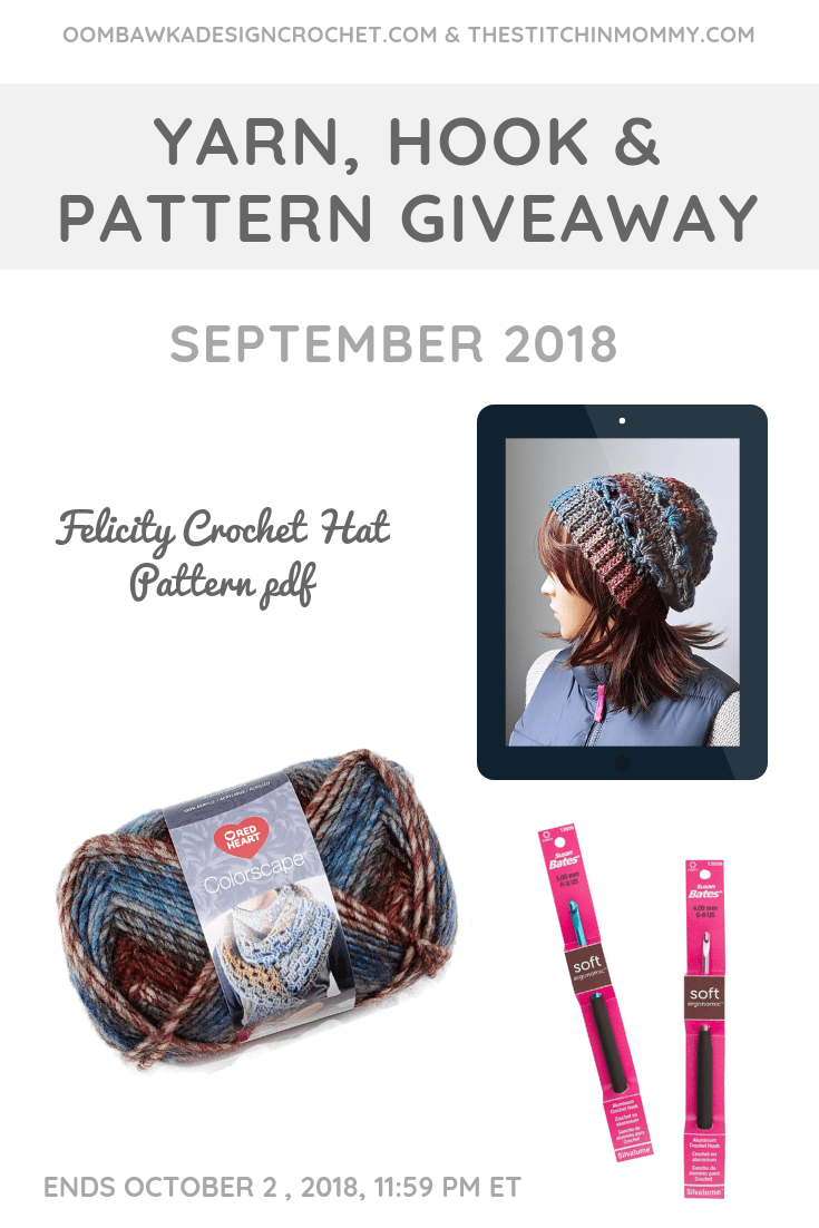 September Yarn Hook and Pattern Giveaway Oombawka Design Crochet The Stitchin Mommy