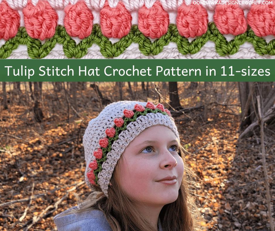 Tulip Stitch Hat Pattern FB