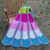 Waterfall Ripple Blanket by Naztazia