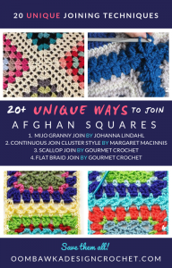 20 Unique Ways to Join Afghan Squares - Roundup by Oombawka Design Crochet