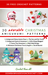 30 Adorable Christmas Amigurumi Patterns. Free Pattern Roundup by Oombawka Design Crochet