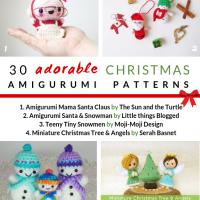 30 Adorable Christmas Amigurumi Patterns. Free Pattern Roundup by Oombawka Design Crochet