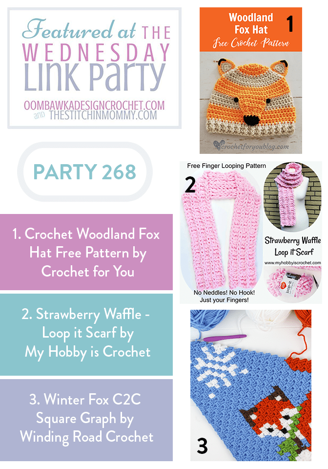 Wednesday Link Party 268 Featured Favorites with Oombawka Design Crochet
