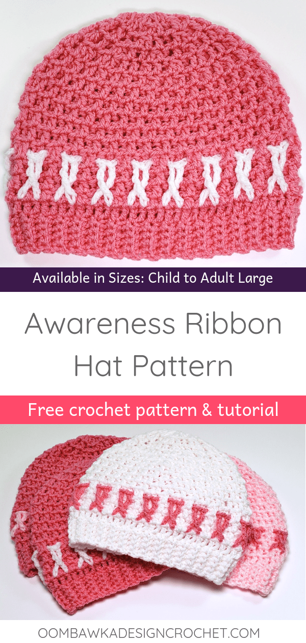 Free Awareness Ribbon Hat Pattern Oombawka Design Crochet