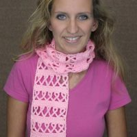 Crochet Awareness Ribbon Scarf by Naztazia