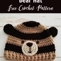 Woodland Bear Crochet Hat Pattern