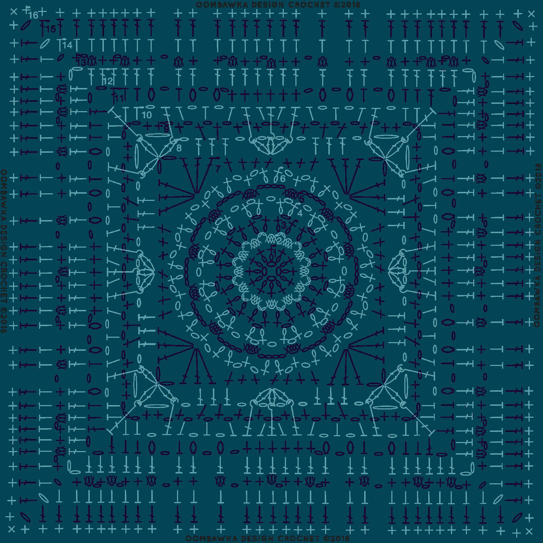 Magic Menhirs Afghan Square Pattern Oombawka Design Crochet