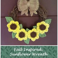 Fall Inspired, Sunflower Wreath by Eye Love Knots