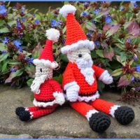 Father Christmas Amigurumi by Anna Beckett