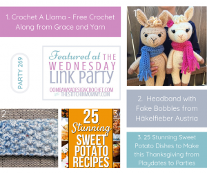 Featured Favorites at Party 269 with The Stitchin Mommy and Oombawka Design Crochet FB