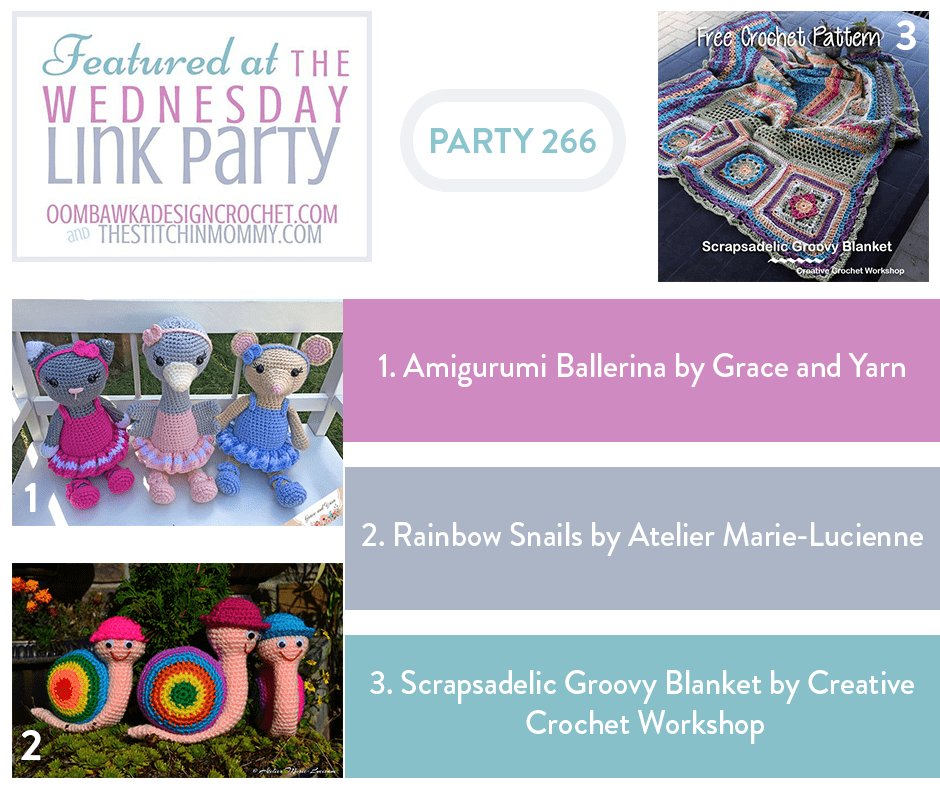 Featured at the Wednesday Link Party 266 with Oombawka Design and The Stitchin Mommy 2