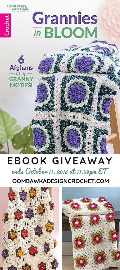 Grannies in Bloom. Leisure Arts. Book Review by Oombawka Design Crochet. Giveaway Ends October 11 2018 1159 pm ET