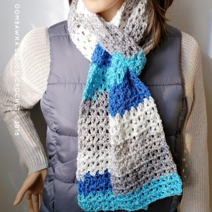 Make this Basic V-Stitch Scarf for donation projects