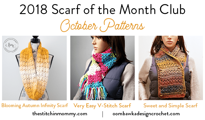 October Scarf of the Month Club 2018 Patterns Oombawka Design Crochet