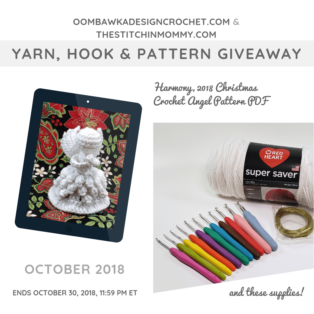 October Yarn, Hook and Pattern Giveaway at Oombawka Design Crochet and The Stitchin Mommy #instacrochet