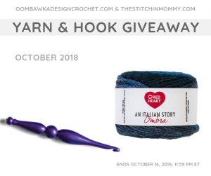 Enter Our October Yarn and Hook Giveaway Here!