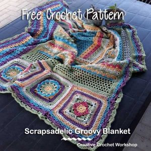 Featuring Amigurumi Ballerina by Grace and Yarn Rainbow Snails by Atelier Marie-Lucienne Scrapsadelic Groovy Blanket – A Free Crochet Along by Creative Crochet Workshop