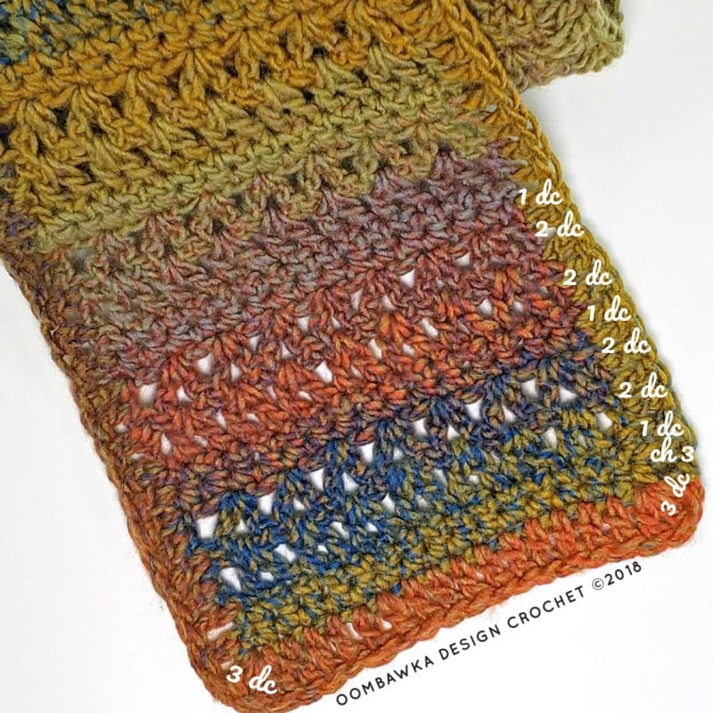 Suggested Edging. Sweet and Simple Scarf Pattern Oombawka Design Crochet