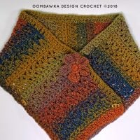 Sweet and Simple Scarf Pattern by Rhondda Mol Flower Option 2