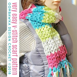 The Very Easy V-Stitch Scarf. Free Pattern Oombawka Design Crochet 6