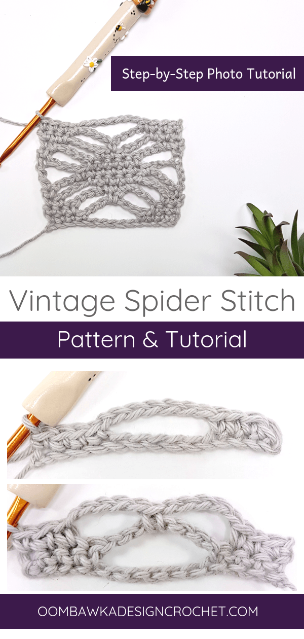 Vintage Spider Stitch Tutorial by Oombawka Design Crochet