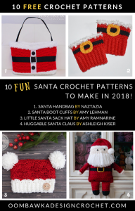 10 Fun Santa Crochet Patterns to Make in 2018