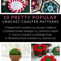 10 Pretty Popular Crochet Coaster Patterns Oombawka Design Crochet Roundup