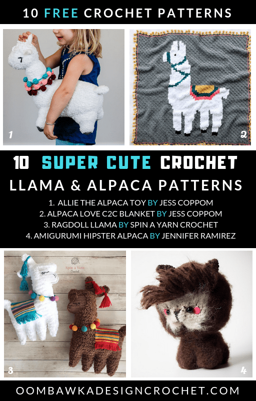 Get 10 Super Cute Crochet Llama and Crochet Alpaca Patterns today at Free Pattern Friday!