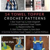 14 Free Crochet Towel Topper Patterns a Roundup by Oombawka Design Crochet