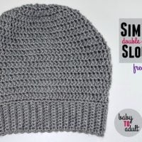 Simple Double Crochet Slouch Hat Pattern
