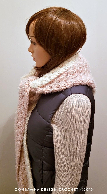Beginner Hooded Scarf Pattern PIN Oombawka Design Crochet