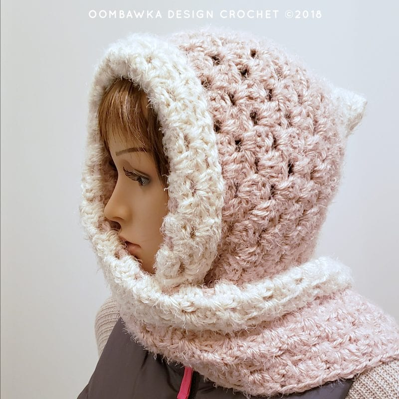 Easy Hooded Scarf Pattern Oombawka Design Crochet