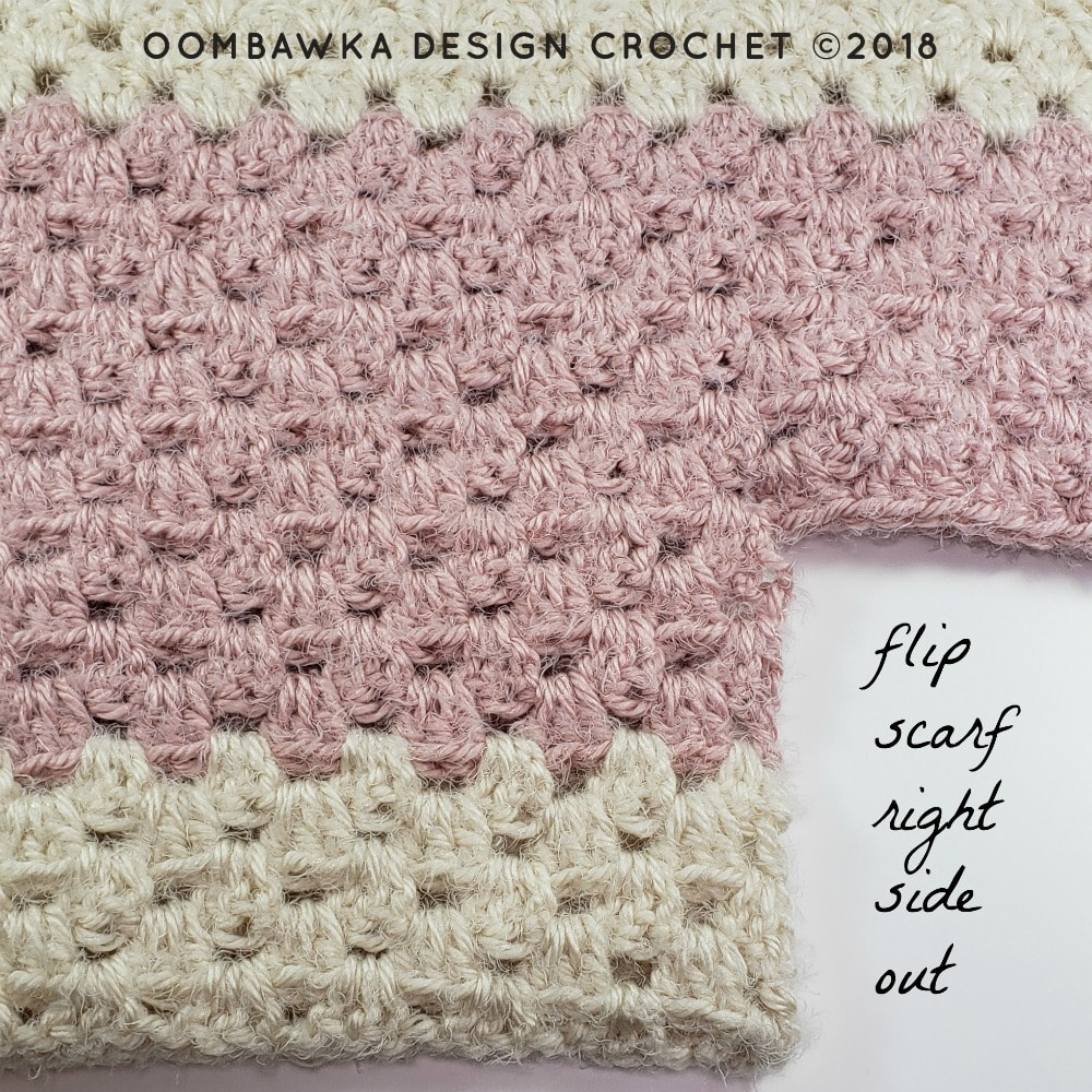 Flip Scarf Right Side Out Beginner Hooded Scarf Pattern Oombawka Design Crochet