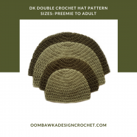 DK Double Crochet Hat Pattern for Beginners