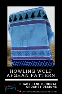Howling Wolf Afghan Pattern Image Giveaway at Oombawka Design Crochet