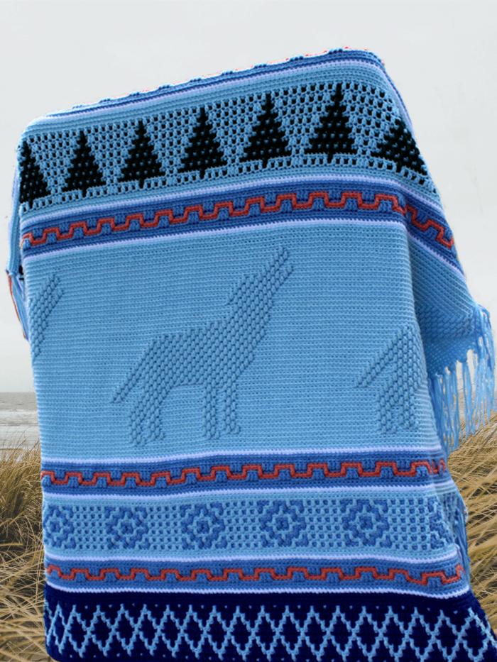 Howling Wolf Afghan Pattern Image