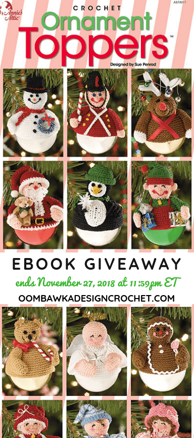 Ornament Toppers eBook Giveaway Annie's Craft Store at Oombawka Design Crochet