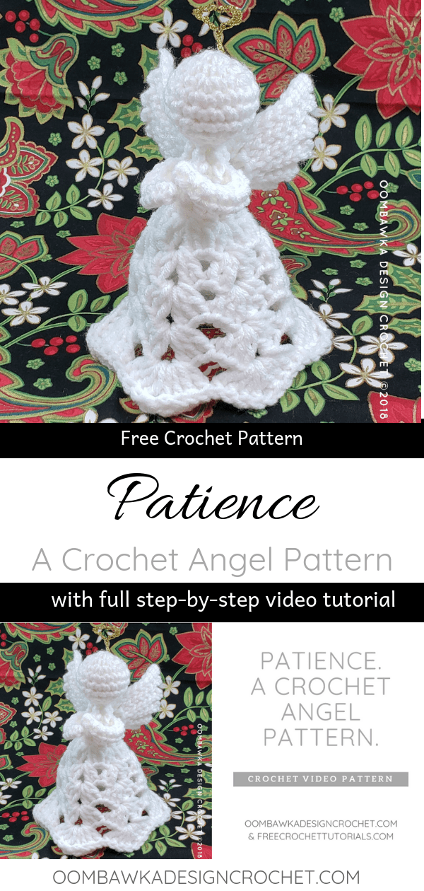 Patience. A New Crochet Angel Pattern from Oombawka Design.