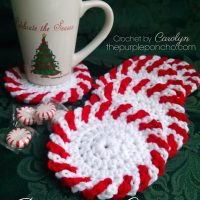Peppermint Coasters by Carolyn Calderon