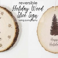 DIY Reversible Holiday Sign Using Pyrography by Hazel and Gold Designs