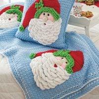 Crochet Santa Pillow and Afghan CAL Annies Creative Studio
