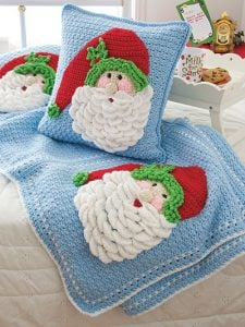 Crochet Santa Pillow and Afghan CAL Annies Creative Studio
