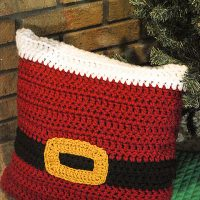 Santa Pillow Sham by Katie Clary