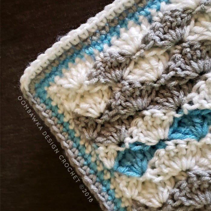 Solid Shell Stitch Blanket Pattern Oombawka Design Crochet corner edging