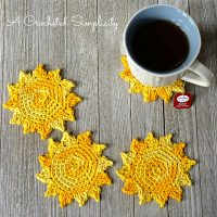 The Sun's Out Drink Coasters by Jennifer Pionk